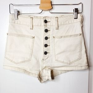Free people denim shorts new without tag